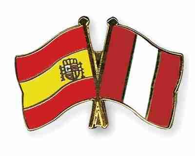 banderas peru españa